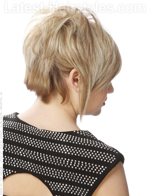 Super Straight Edgy Bob Back View