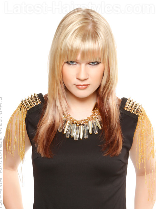The Two Tone Long Fringey Haircut