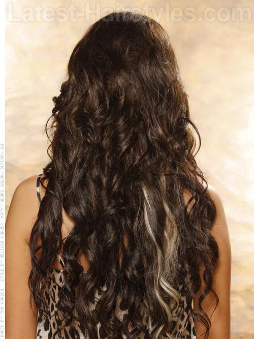 Tribal Princess Multicolored Long Haircut Back View