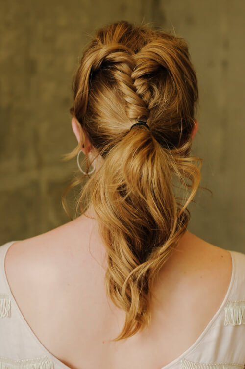 fishtail braided pony