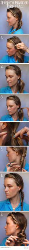 How to Create a Gorgeous French Braided Ponytail