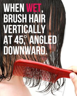how to brush wet hair