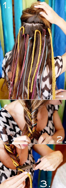 yarn braid temporary highlights
