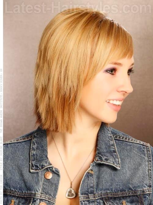 Carefree and Casual Short Bob Layered Sides
