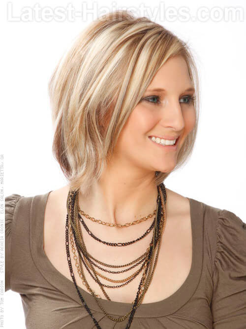 Short Blonde Hair with Brown Lowlights