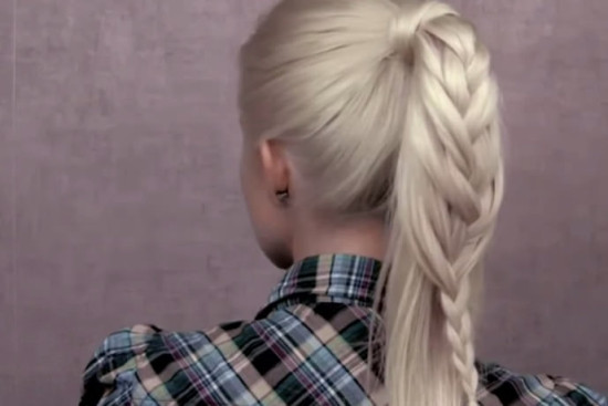 French braided ponytail hot weather hairstyle