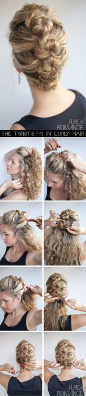 french hairstyles roll and twist tutorial