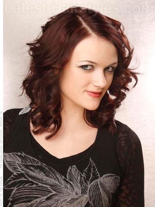 Cherry Cola Brown Hair Color With Highlights Red brown hair side view