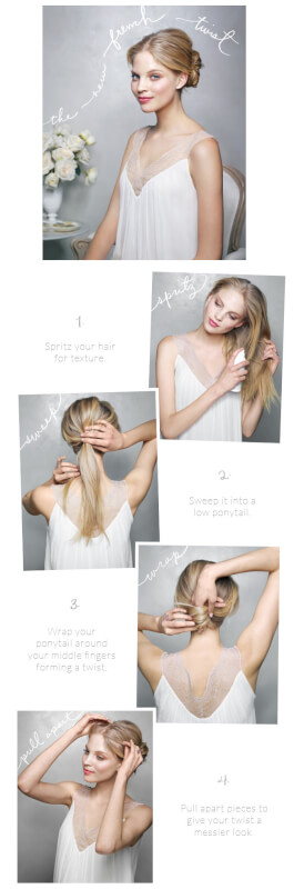 new french hairstyle twist
