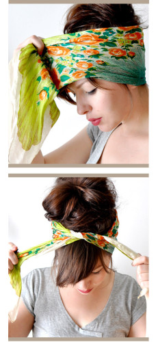 hot weather head wrap tutorial