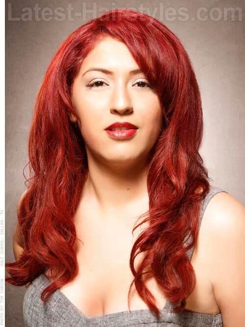 Vibrant Vixen Red Hair Full Long Style