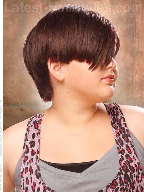 Asymmetric Short Childrens Hairstyle Side View