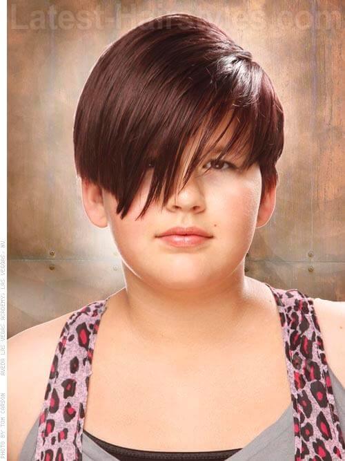 Asymmetric Short Childrens Hairstyle