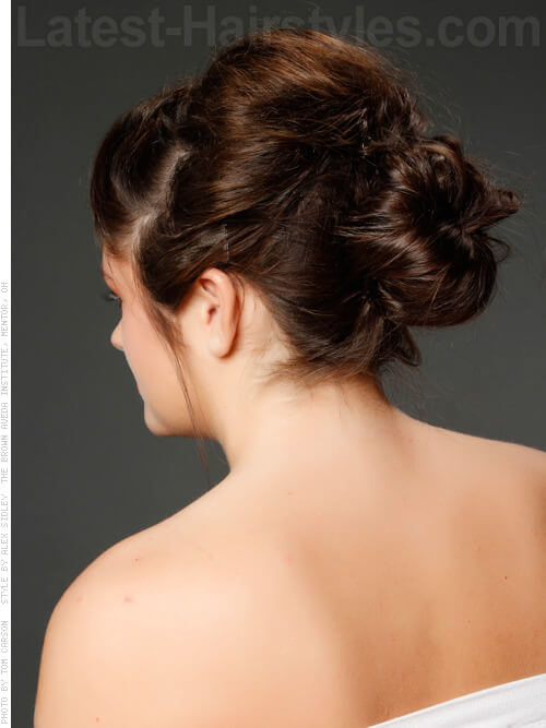 Braided Bun Updo Back View