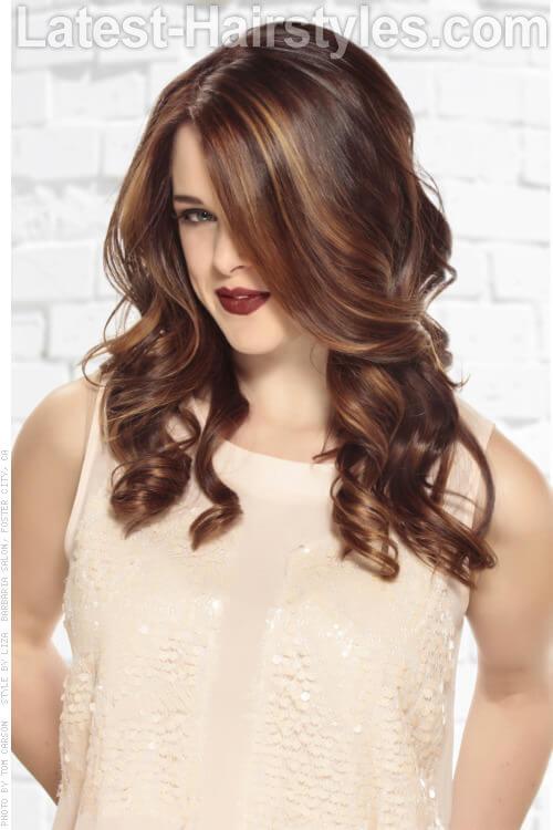 Brunette Haircolor with Caramel Highlights