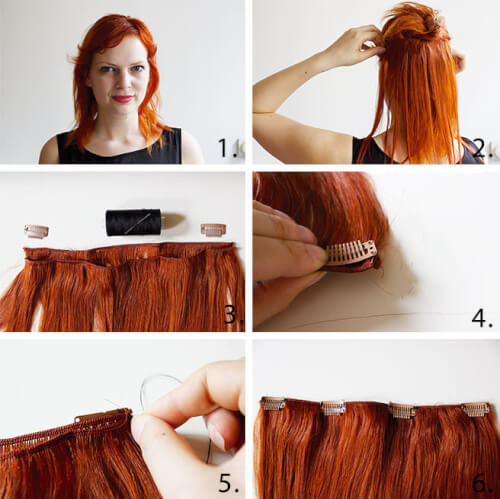 DIY hair extension tutorial