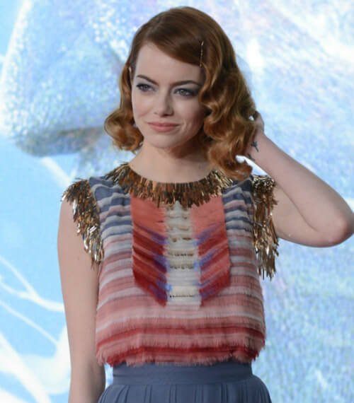 Emma Stone Ombre Bob with Vintage Waves