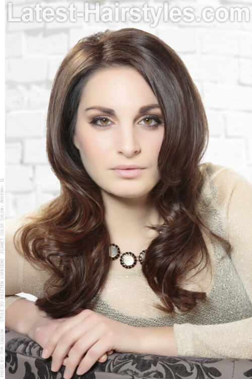 Mocha brown latest hair color trends 2015 2015 mocha brown wavy