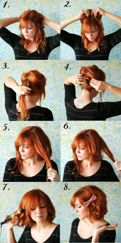 faux bob tutorial