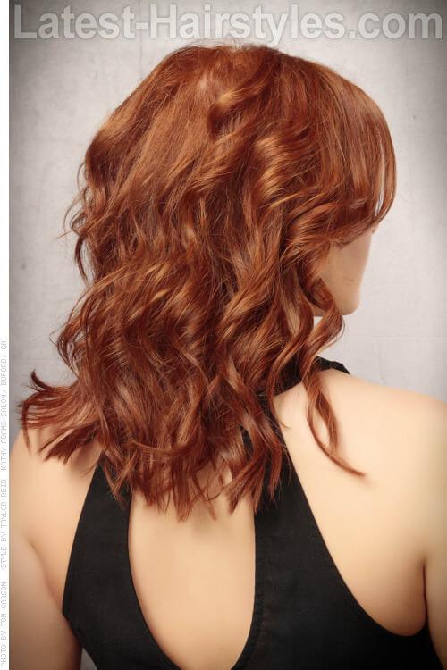 Gorgeous Copper Haircolor Back View