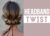 headband twist hairstyle