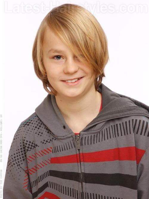 Long Layered Hairstyle for Boys