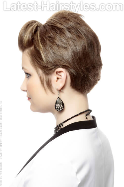Short Hairstyle with Volume Side View