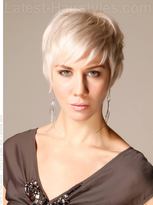 Blonde Funky Pixie Fine Hairstyle