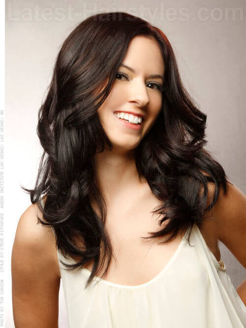 Cute Bouncy Curls Long Brunette Style Waves