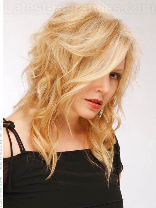 Bright Blonde Highlights Vixen Teased Style