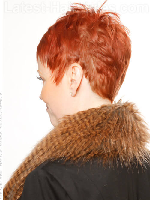 Copper Cropped Older Woman Style Shaped Back