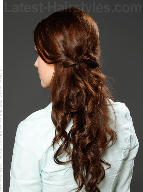 Back Half Up Half Down Hairstyles