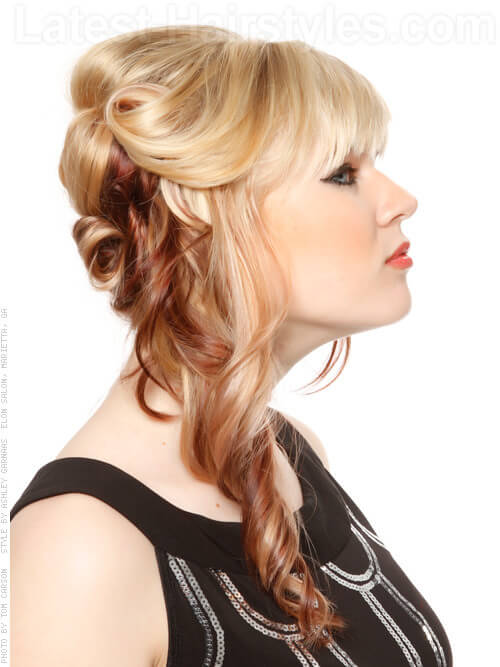 Double Toned Dame Full Long Style with Fringe Side View