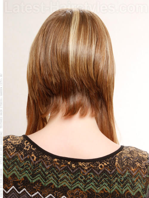 Brown Hair With Chunky Blonde And Red Highlights And Lowlights