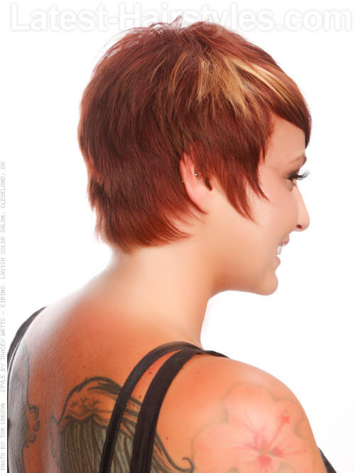 Fiery Fringe Haircuts for Round Faces Side View