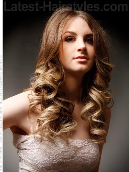 Long Blonde Brown Big Cute Curls