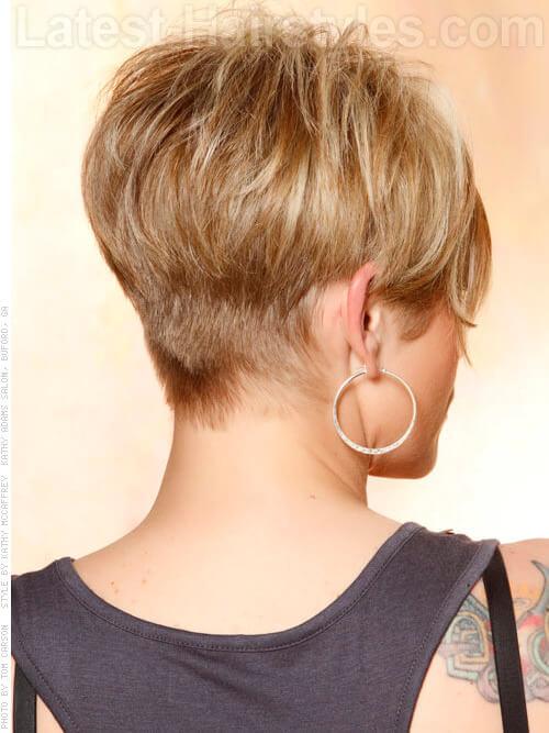Long Blonde Pixie Sculpted Back