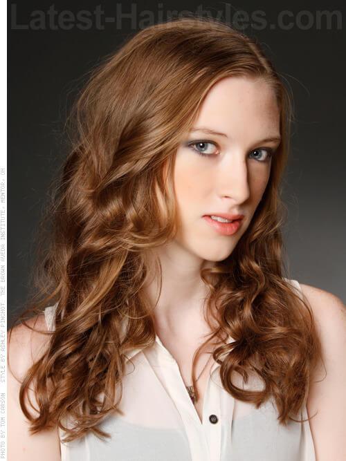 Long Brown Messy Curls Cute Hair