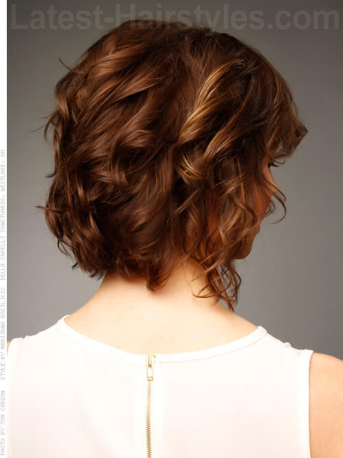 Medium Brown Curly Casual Hairstyles For Fine Hair Side View