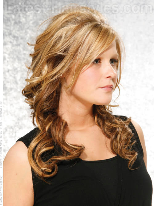 Partial Caramel Highlights For Dark Hair Images & Pictures - Becuo