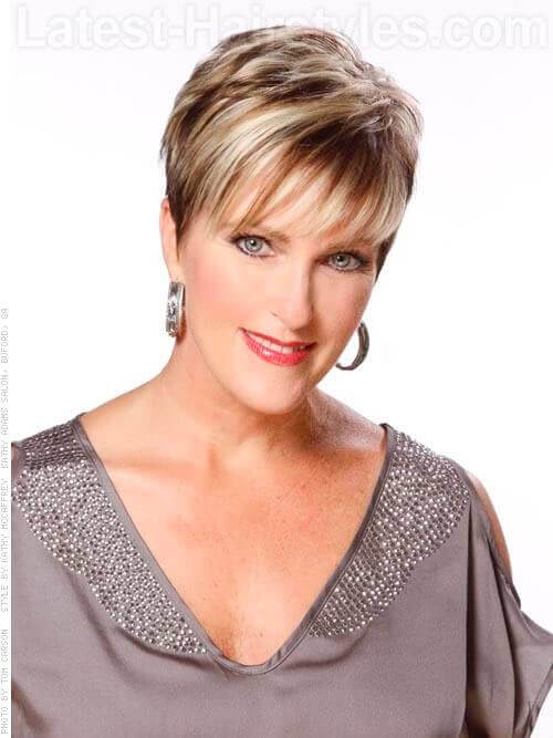 short hair styles for older women