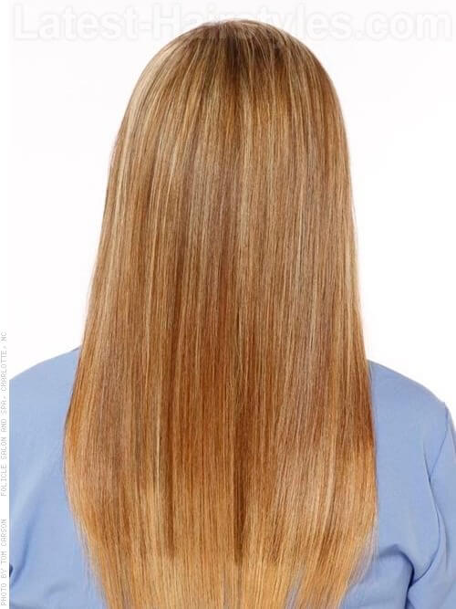 Perfectly Piecey Blonde Highlighted Look Back View