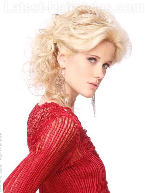 Pretty Platinum Pale Blonde Hair Color Side View