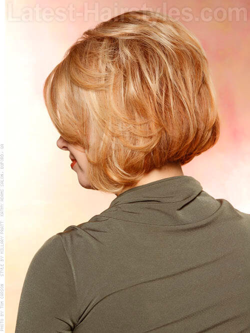 Short and Sweet Layered Bob Back View