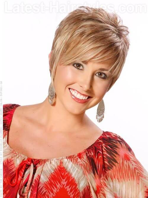 Short Blonde Pixie Wispy Short Hairstyle For Older Women