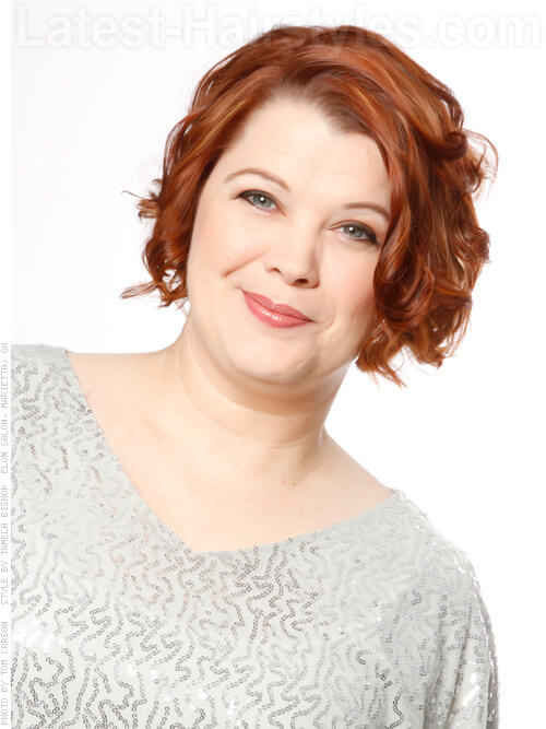 Short Red Wavy Women's 50+ Hairstyle