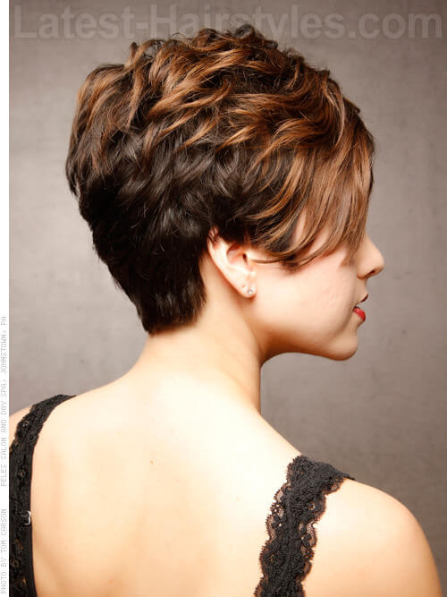 Sweet and Sassy Short Cropped Haircuts for Round Faces Side View