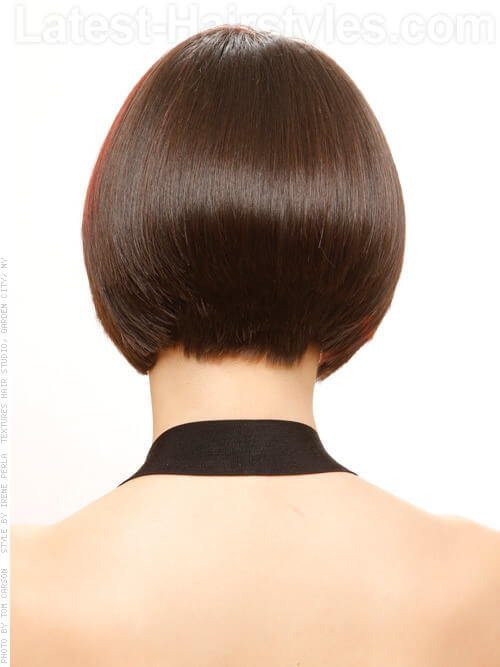 Tailor Made Bob Sleek Hairstyle Back View