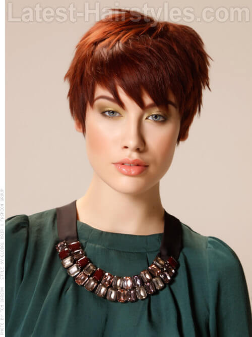 Textured Pixie Dramatic Fine Hairstyle