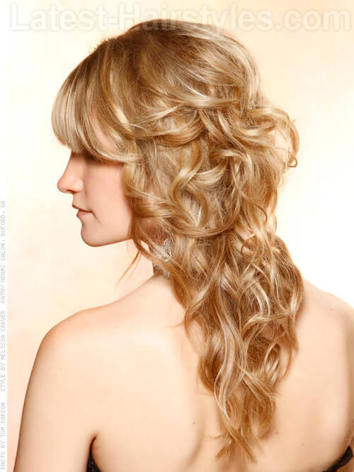 Warm Blonde Babydoll Warm Highlights and Lowlights Side View